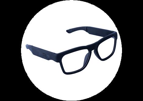 משקפיים MFI TRENDY עם רמקולים בלוטוס מובנה | שחור עדשה מתכהה