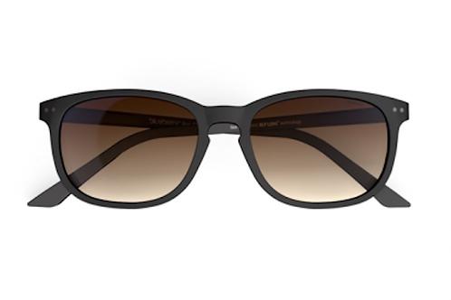 Blueberry Sunglasses XL, Black, Brown Gradient