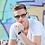 Thumbnail: Blueberry Sunglasses L+, Black, Brown Gradient