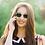 Thumbnail: Blueberry Sunglasses XL, Crystal, Green