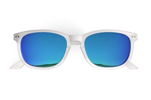 Blueberry Sunglasses XL, Crystal, Sky Blue mirror