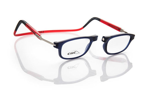 משקפי קריאה CLIC FLEX Rectangular Frosted Darkblue/Red