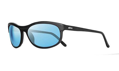 משקפי שמש REVO VINTAGE WRAP   MATTE BLACK   H2O BLUE