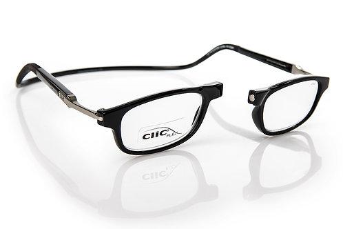 משקפי קריאה CLIC FLEX Rectangular XL Black