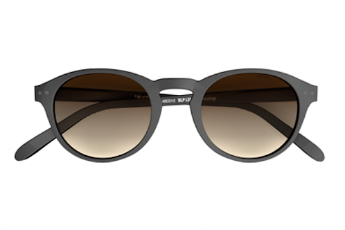 Blueberry Sunglasses L+, Black, Brown Gradient