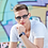 Thumbnail: Blueberry Sunglasses L+, Navy, Blue gradient