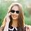 Thumbnail: Blueberry Sunglasses XL, Toffee, Green mirror