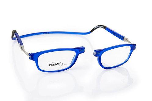 משקפי קריאה CLIC FLEX Rectangular Frosted Blue