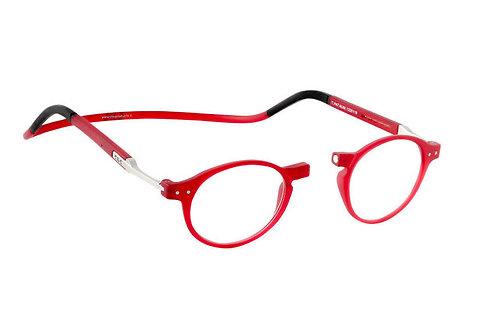 משקפי קריאה Clic FLEX Brooklyn Red