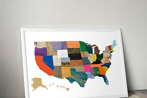 Charlotte Strick's United States of Cartographic Collage