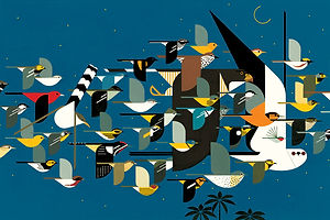 Fly Away With Charley Harper on National Bird Day
