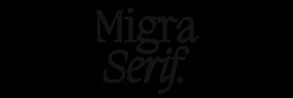 Migra Serif Takes Flight