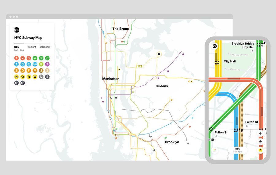 New York's MTA Map Gets a New Look—and Goes Digital