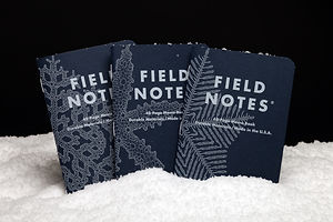 "Gifts for Designers: Field Notes' 99,999 Unique ""Snowy Evening"" Covers"