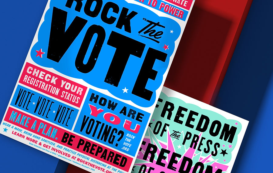 Going Letterpress to Rock the Vote