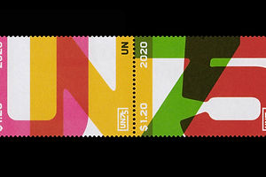 Pentagram's Matt Willey Rings in 75 Years of the UN With a Striking Set of Stamps
