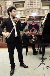 with Francisco Lima Santos, concertmaster Orquestra Gulbenkian