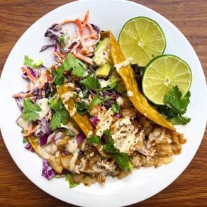 Amazing street tacos with mahi