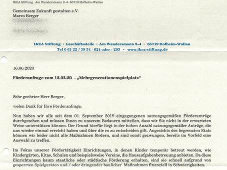 Antwort von der IKEA-Stiftung für Spielplatz in Cochstedt