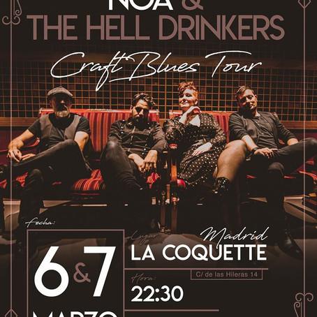 CONCIERTO DE NOA & THE HELL DRINKERS EN MADRID - LA COQUETTE