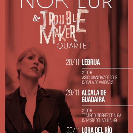 NOA LUR & TROUBLE MAKER QUARTET en el Festival Internacional de Jazz de Sevilla.