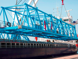 PORT CRANE WORTH 6.4 MILLION ARRIVED IN PORT OF ADRIA