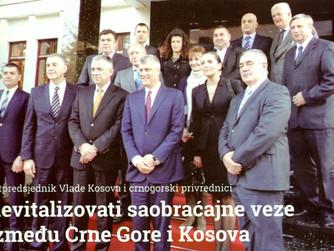 REVITALIZOVATI SAOBRAČAJNE VEZE IMEDJU CRNE GORE I KOSOVA