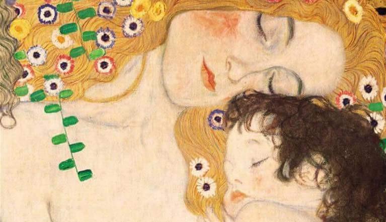 tableau la mère et l'enfant de Klimt