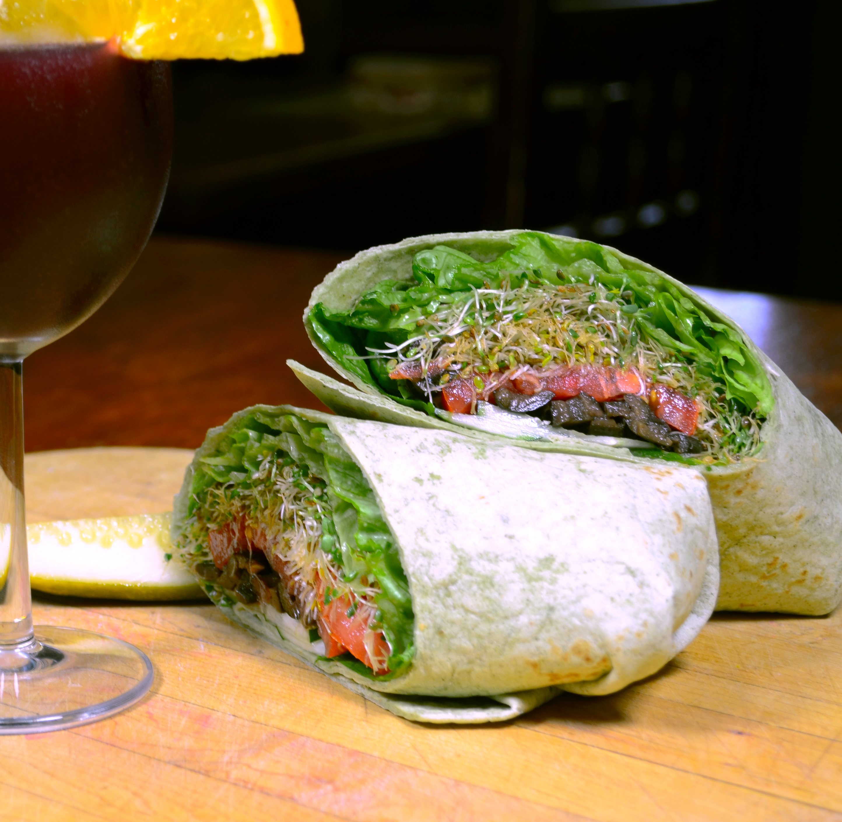 GB  Shaw (vegetarian wrap)