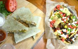 nachos and quesedilla