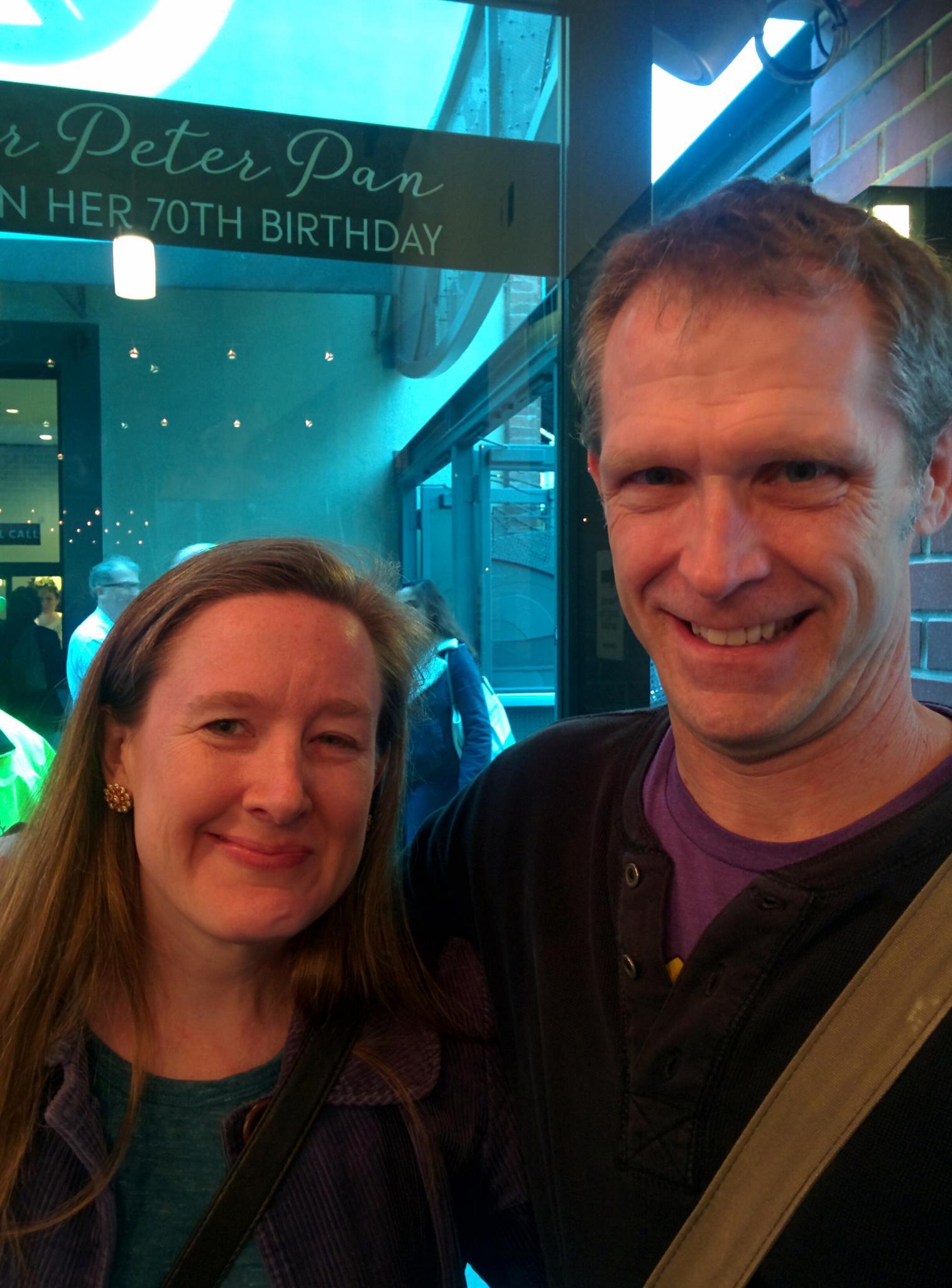 Robert with Sarah Ruhl