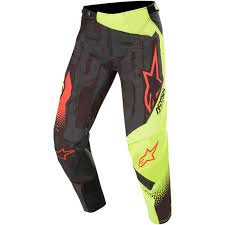 PANTALON ALPINESTARS TECHSTAR FACTORY CARBON/FLUO
