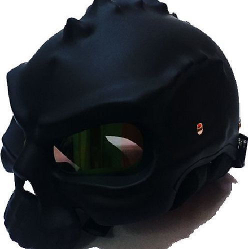 CASCO R7 RACING SKULL DOBLE VISTA NEGRO