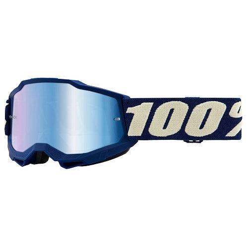 GOGGLES 100% ACCURI 2 DEEPMARINE BLUE MIRROR