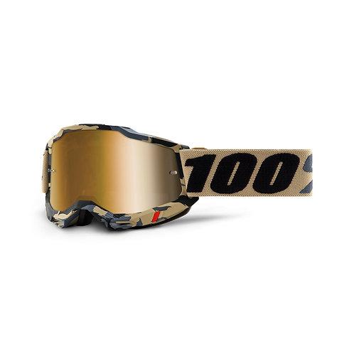 GOGGLES 100% ACCURI 2 TARMAC TRUE GOLD