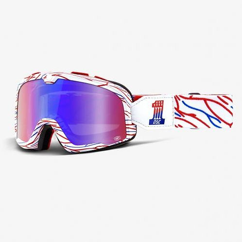 GOGGLES 100% BARSTOW SEATH SPRAY RED BLUE MIRROR