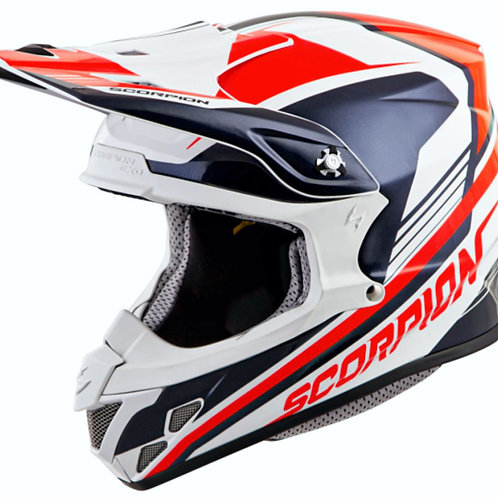 CASCO SCORPION VX-R70 ASCEND BCO/AZUL/NJA