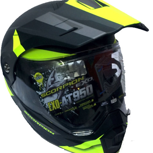 CASCO SCORPION EXO AT-950 ABATIBLE NGO/FLUO