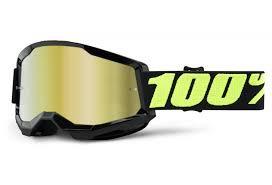 GOGGLES 100% STRATA 2 UPSOL BLACK GOLD MIRROR