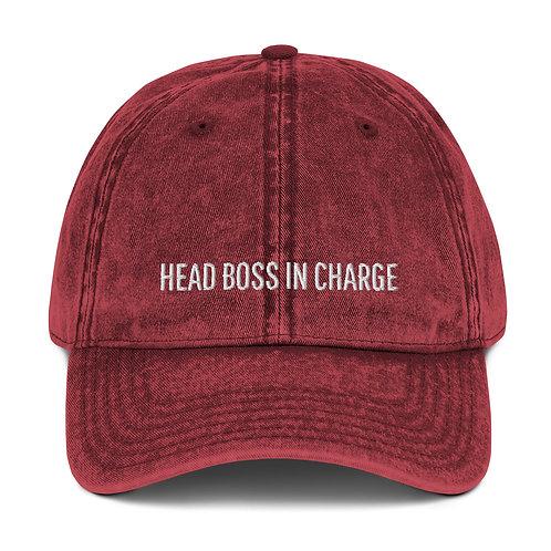 HBIC Vintage Cotton Twill Cap