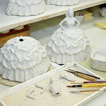 Royal Staffordshire Figurine Making of Gypsy Bride Butterflies