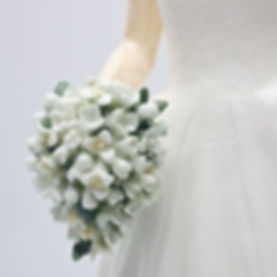 Royal Staffordshire Catherine Figurine Handmade Bouquet