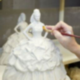 Gypsy Bride Butterflies by Royal Staffordshire figurine being painted