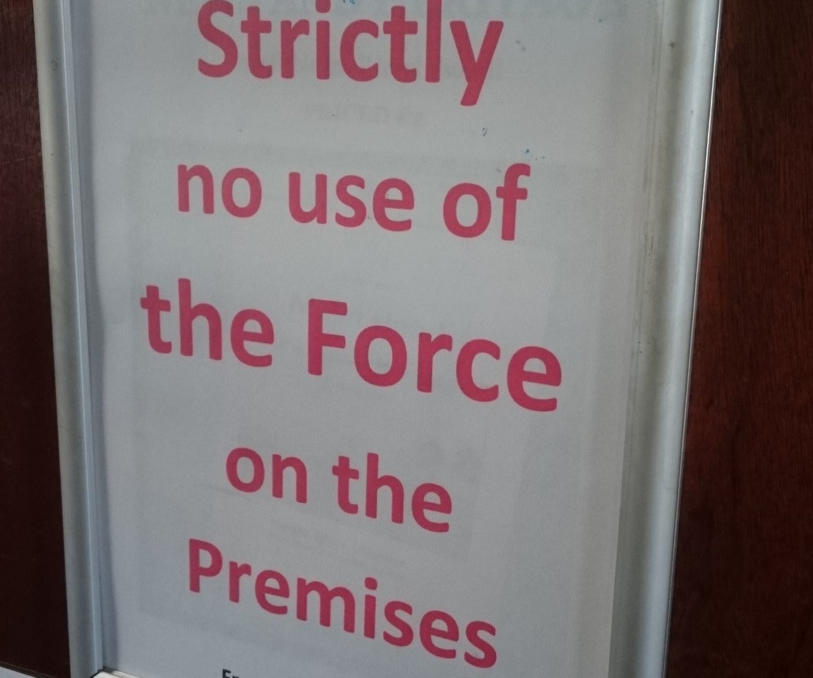 Strictly no use of the Force at Farrens!