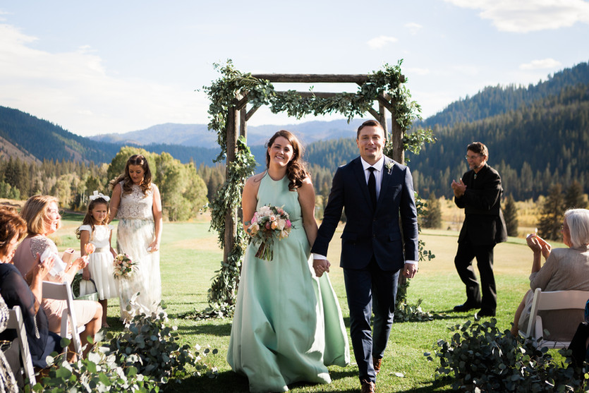 Edie and Rob's                                      intimate fall gathering at Snake River Sport