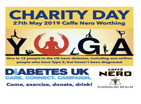 Join us to help raise money for Diabetes UK Charity by doing Yoga @ café Nero Worthing