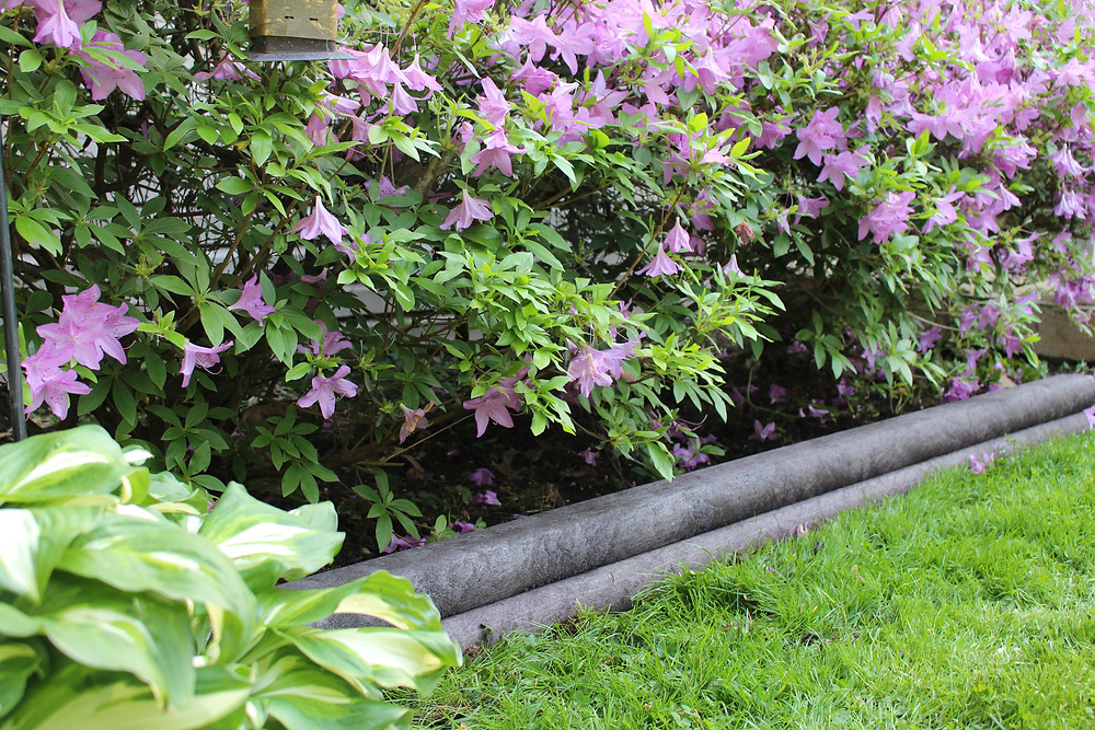 Garden Edging with BestPLUS Black 3x4 Recycled Plastic Landscape Timbers