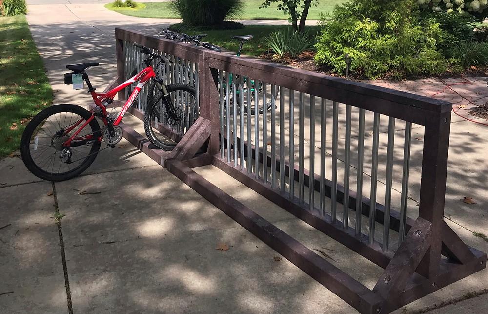 Bike Racks with BestPLUS Brown 4x4 & 2x4 Recycled Plastic Lumber