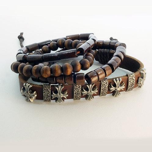 Bracelet Cross wood