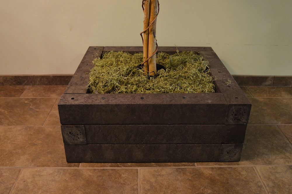 Planter with BestPLUS Brown 4x4 Recycled Plastic Lumber